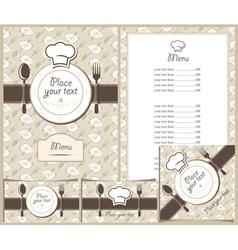 menu plate vector image vector image
