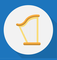 of audio symbol on harp flat vector image vector image