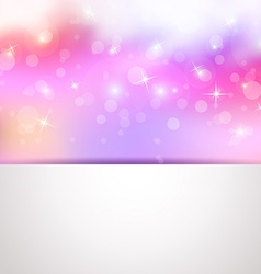 sweet colorful background greeting card vector image