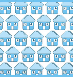 blue house with door roof and windows background vector image