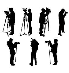 cameraman and phographers vs vector image
