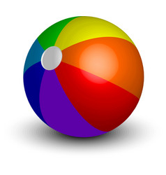 inflatable beach ball vector image vector image