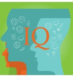 Iq intellectual quotient intelligence vector