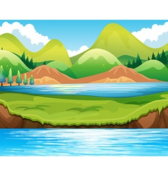 Lake scene vector image vector image