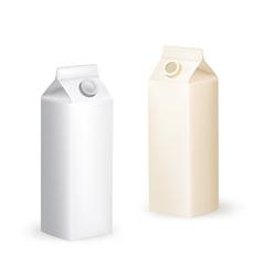 milk packaging box vector image vector image