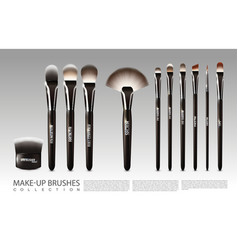 realistic cosmetic accessories set vector image