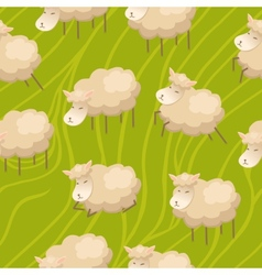 Seamless lamb background vector image vector image