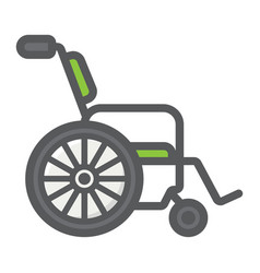 wheelchair filled outline icon medicine vector image