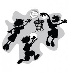 funny basketball vector image
