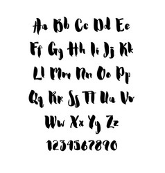 handwritten brush style modern cursive font vector image vector image