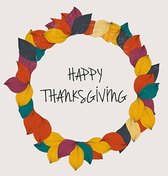 Happy Thanksgiving Day Thanksgiving Day card vector image vector image
