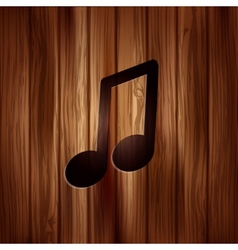 Music note icon Musical background vector image vector image