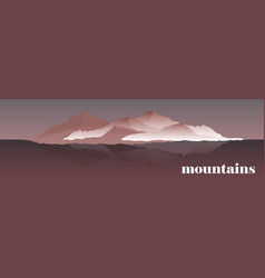 panorama of mountain ridges vector image