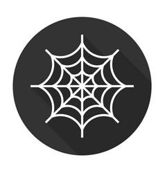 Spider web icon flat vector image vector image