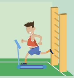 a man on a treadmill vector image vector image