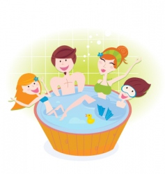 family in whirlpool vector image vector image