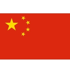 Flag of China in correct proportions and colors vector image