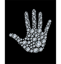hand made from diamonds vector image