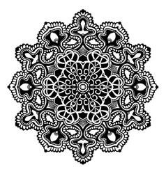 Mandala Black And White vector image