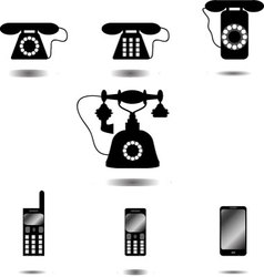 Set of icon phone vector image vector image