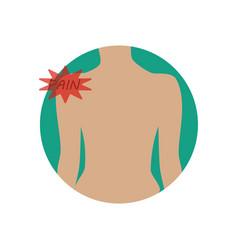 shoulder pain vector image