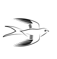 Swallow vector image vector image