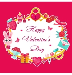 Valentines day template for cards posters flyers vector image vector image
