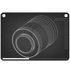 3d model of barrel on a black vector image