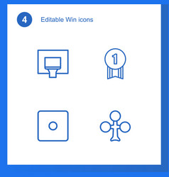 4 win icons vector
