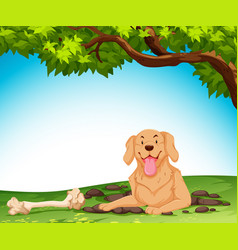 a dog digging the ground vector image