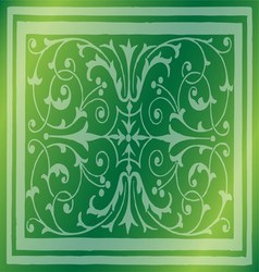 Abstract Light Green Background of Elegant Vintage vector image