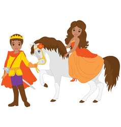 African American Princess and Prince vector
