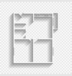 apartment house floor plans white icon vector image