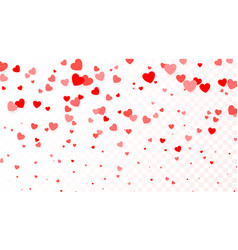 background with flying red hearts heart vector image