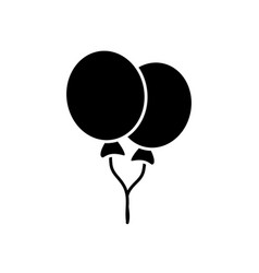 balloons flying decoration celebration element vector image