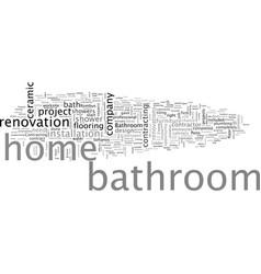 Bathroom renovations vector