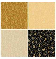 beige and black backgrounds with dollars vector image
