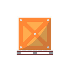 Big delivery box on pallet icon vector