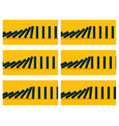 black dominoes animation sprite with yellow back vector image