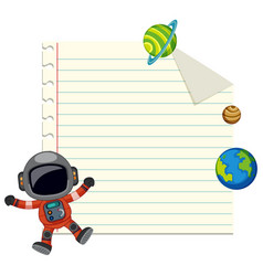 Blank note with space element vector