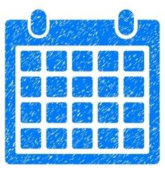 Calendar Grainy Texture Icon vector