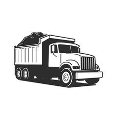 cartoon dump truck tipper truck vector image