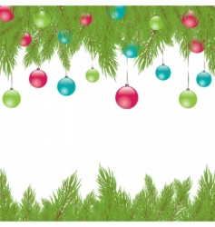 Christmas fur tree illustration vector image