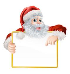 christmas santa claus sign vector image