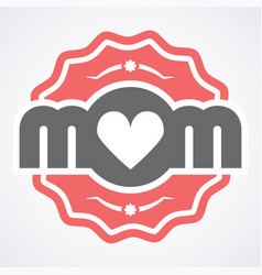 Colorful mom emblem design elements for vector