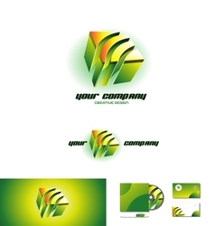 Corporate business cube 3d logo vector