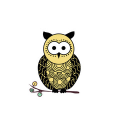 decorative owl silhouette vector image