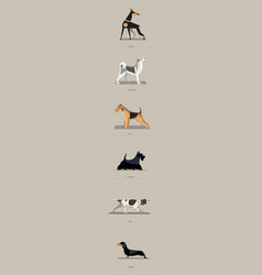 Dog breeds set in minimalist style vector