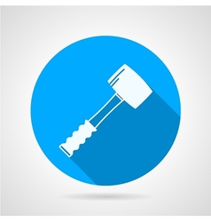 Flat icon for construction Sledgehammer vector image