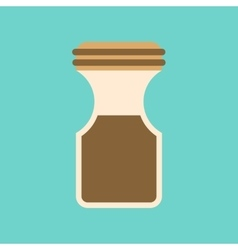 Flat icon on background coffee jar vector